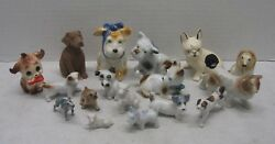 Dog Figurines Terriers Russel Collies Labrador Porcelain Mixed Lot of 17