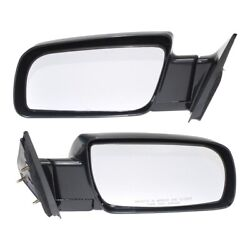 Manual Black Side Mirrors Left Lh And Right Rh Pair Set Of 2 For Pickup Truck