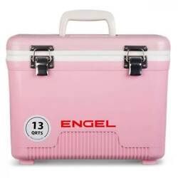 Engel 13 Quart Compact Durable Ultimate Leak Proof Outdoor Dry Box Cooler Pink $49.99