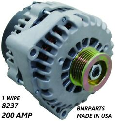 200 Amp 1 Single Wire Alternator Gmc Chevy Cadillac High Output New