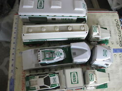 Mix Lot Vintage Used 6 Pc Hess Trucks And Car