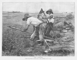 Julien Dupree The Mowers, Agricultural Scene - Antique Print 1892