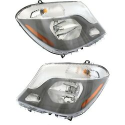 New Headlight Lamp Driver And Passenger Side For Mercedes Mb2502221c, Mb2503221c