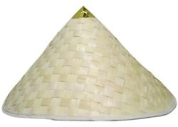 Chinese Coolie Straw Japanese Sun Shade Asian Adult Costume Conical Hat