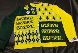 Oregon Ducks Menand039s Xxl Ugly Christmas Sweater - Green And Yellow Genuine College
