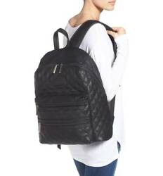 NWOT  THE HONEST COMPANY  City Quilted Faux Leather Diaper Backpack