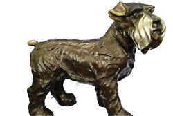 Signed Original Hot Cast Bronze English Terrier Life Size Sculpture Statue Sale