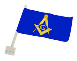 Masonic Full Color Auto Or Motorcycle Flag Mas-af-1