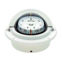 Ritchie F-83w White Voyager Compass Flush Mount