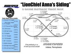 Lionel Fastrack Lionchief Anna's Siding Track Layout Train Pack 4x8 O Gauge New