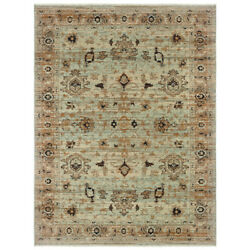 Sphinx Blue Faded Distressed Vintage Transitional Casual Area Rug Floral 8020H