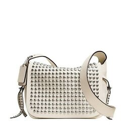 Coach Rivets Flaps Dakotah Leather Crossbody Bag