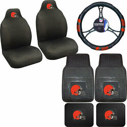 Nfl Cleveland Browns Car Truck Seat Covers Floor Mats And Steering Wheel Cover