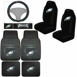 Nfl Philadelphia Eagles Car Truck Seat Covers Floor Mats And Steering Wheel Cover