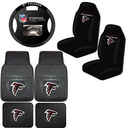 Nfl Atlanta Falcons Car Truck Seat Covers Floor Mats And Steering Wheel Cover