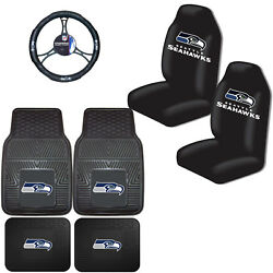 Nfl Seattle Seahawks Car Truck Seat Covers Floor Mats And Steering Wheel Cover