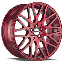 22 Inch Shift Performance Formula Candy Red wheels Rims & Tires Fit 5 X 114.3