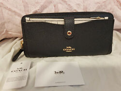 NEW $275 COACH F25967 ACCORDION ZIP ENVELOPE CARD COIN PHONE CASE WALLET CLUTCH