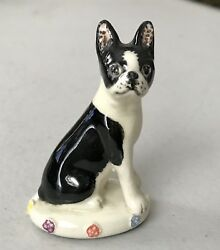 Miranda Smith Boston Terrier Dog Figurine ~ Made in England ~ Basil Matthews