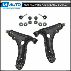 Trq 4 Pc Suspension Kit Control Arms W/ Ball Joints Sway Bar End Links For Vw