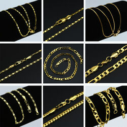 Wedding Party Women Men 18K Gold Filled Rope Chain Necklace Jewelry Gift 16 30#x27;#x27; C $1.74