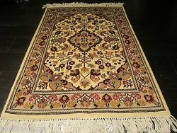 2x3 Fine Museum Formal Design Intricate Hand-made-knotted Wool/silk Rug 582429