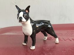 Vintage Basil Matthews Boston Terrier Dog Figurine ~ Made in England