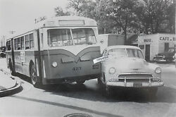 1951 Chevrolet And Bus In Accident 12 X 18 Black And White Picture