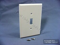 New Leviton White JUMBO Toggle Switch Cover Wallplate Oversize Switchplate 88101