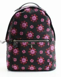 Michael Kors NEW Black Ultra Pink Nylon Kelsey Designer Backpack Bag $178 #024