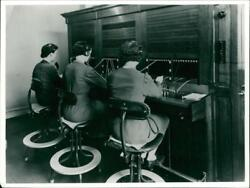 Norwich Union's telephone switchboard in 1938. - Vintage photo