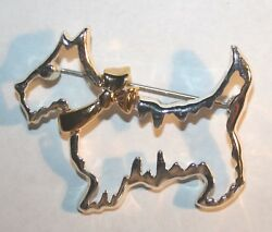 Vintage Napier Scottie Dog Terrier Brooch Pin