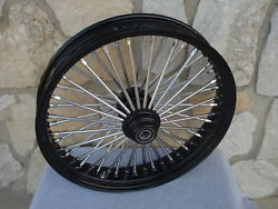 21x3.5 Fat Spoke Single Disc Front Wheel 08-up For Harley Flt Touring Baggers