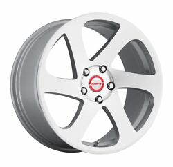 18 Inch Shift Racing 6 Speed Silver Machine Wheel Rims And Tires Fit 5 X 112