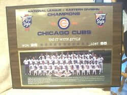 Chicago Cubs 1984 Eastern Division Champion Mounted Team Picture