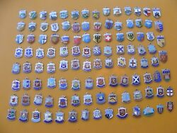 10 Vintage Sterling Silver Charm Charms Uk And Europe Travel Shield Crest