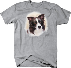 Cute Border Collie Dog Head Looking Shirt Quote Tshirt