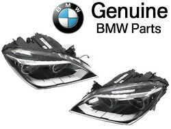 For BMW F06 F12 F13 Pair Set Left Right Headlight Assies LED Adaptive S552A OES