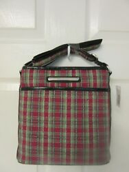 Longaberger Holiday Plaid Purse With Wallet Christmas New Ships Next Day