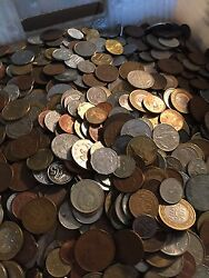 Huge Mixed Bulk Lot Of 1000 Assorted World/foreign Coins Great Starter Group