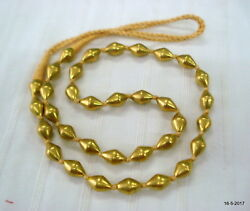 Vintage Antique Tribal Old 22kt Gold Beads Necklace Mala Gold Chain