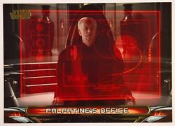 2018 Topps Star Wars Galactic Files Gold Parallel Palpatineand039s Office 5/10 L-6