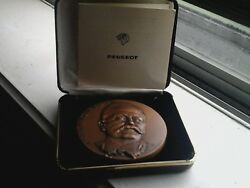 Armand Peugeot Founder / Pioneer Of Automobile Bronze Medal By A. Bourroux N112