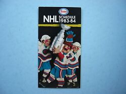 1983/84 Imperial Oil Esso Nhl Hockey Broadcasts Schedule