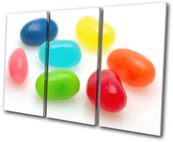Jelly Beans Sweet For Kids Room Treble Canvas Wall Art Picture Print