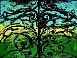 The First Wood Gate, 1983 Mixed Media (Woodcut & Acrylic), Jim Dine - LARGE