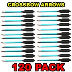 120 Aluminum Metal Bolts Arrows For 50 And 80 Lb Crossbow Archery Xbox - Blue