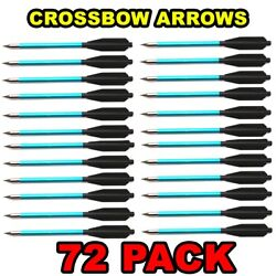 72 Aluminum Metal Bolts Arrows For 50 And 80 Lb Crossbow Archery Xbox - Blue