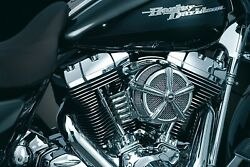 Kuryakyn 9514 Hi-five Mach 2 Air Cleaner Assembly Only Black And Chrome