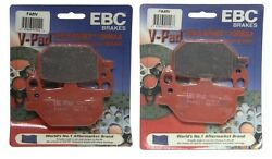 Ebc V Series Brake Pads 2 Sets Front Left Right And03980-81 Yamaha Xs850l Mid-special